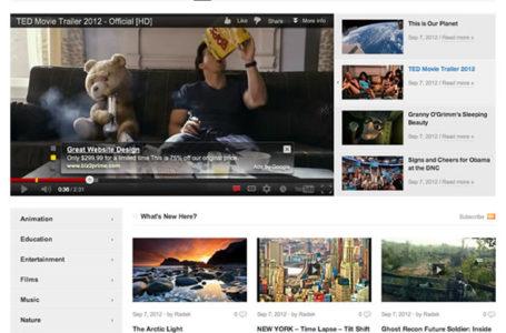 VideoPro — многофункциональная вордпресс тема для видео блога