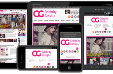 Журнальная WordPress тема  CelebrityGossip