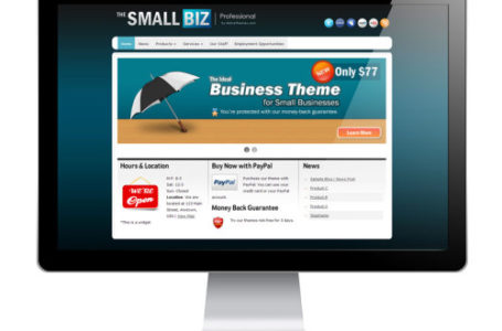 The Small Biz — бизнес WordPress тема малого бизнеса