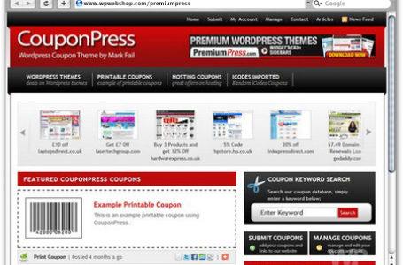 CouponPress — WordPress тема (шаблон) купонного сайта
