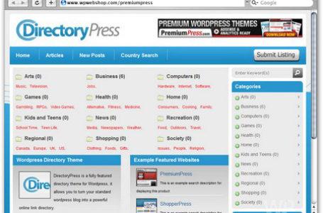 DirectoryPress — готовое решение для создания сайта-каталога