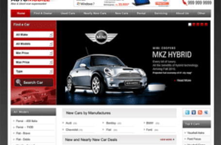 Automobile — вордпресс тема для владельцев автосалонов, гаражей.
