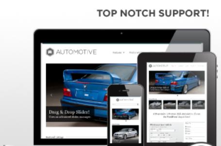 WP Pro Automotive — резиновая автомобильная WordPress тема
